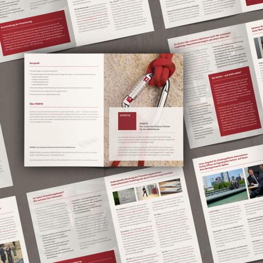 Flyer für Corporate-Finance-Unternehmensberatung IPONTIX