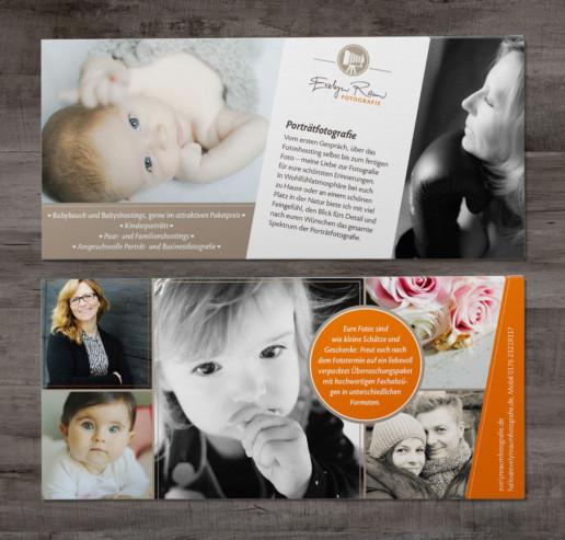Werbung: Flyer Evelyn Raum Fotografie