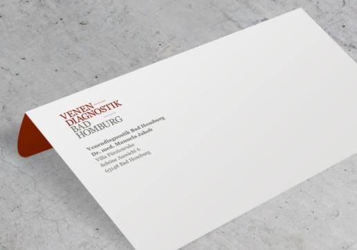 Briefumschlag, Geschäftsausstattung für Arztpraxis Venendiagnostik Bad Homburg
