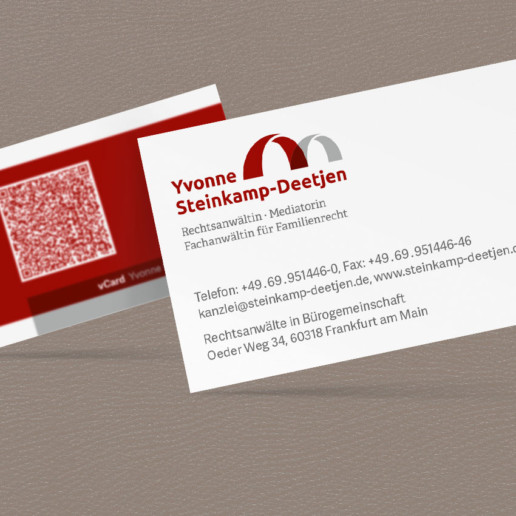 Visitenkarte Yvonne Steinkamp-Deetjen
