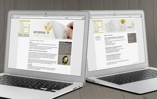 Webseite Unternehmensberatung arcanus