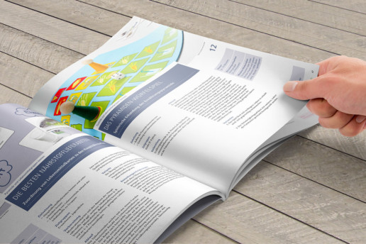 Broschüre Ernährungsberatung Editorial Design