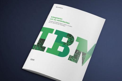Flyer IBM, Mediengestaltung