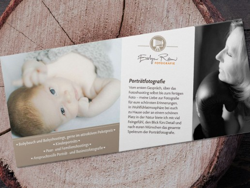 Corporate Design: Flyer Evelyn Raum Fotografie