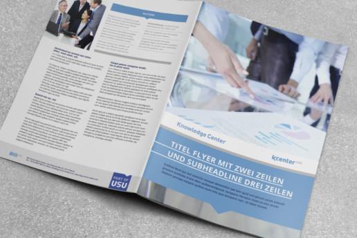 Corporate Design für USU, Titelgestaltung