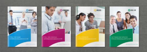 Corporate Design für Printmedien der VRG-Gruppe, Beispiel Imagebroschüre